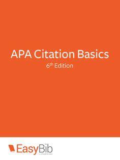 Apa citation in a research paper
